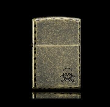 Zorro kerosene windproof creative knurled skeleton lighter ghost retro vintage slim authentic personality