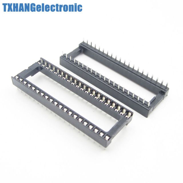 100PCS 40 pin DIP IC Socket Adaptor Solder Type Socket Pitch Dual Wipe Contact