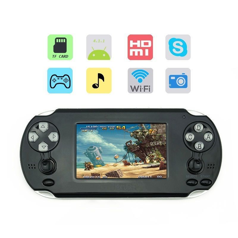 Tlex Ulike Android 4.1 3.5inch WiFi Console Support for PSP PS1 N64 GBA GBC NES SENS Games with Touch Screen 1080P HDMI