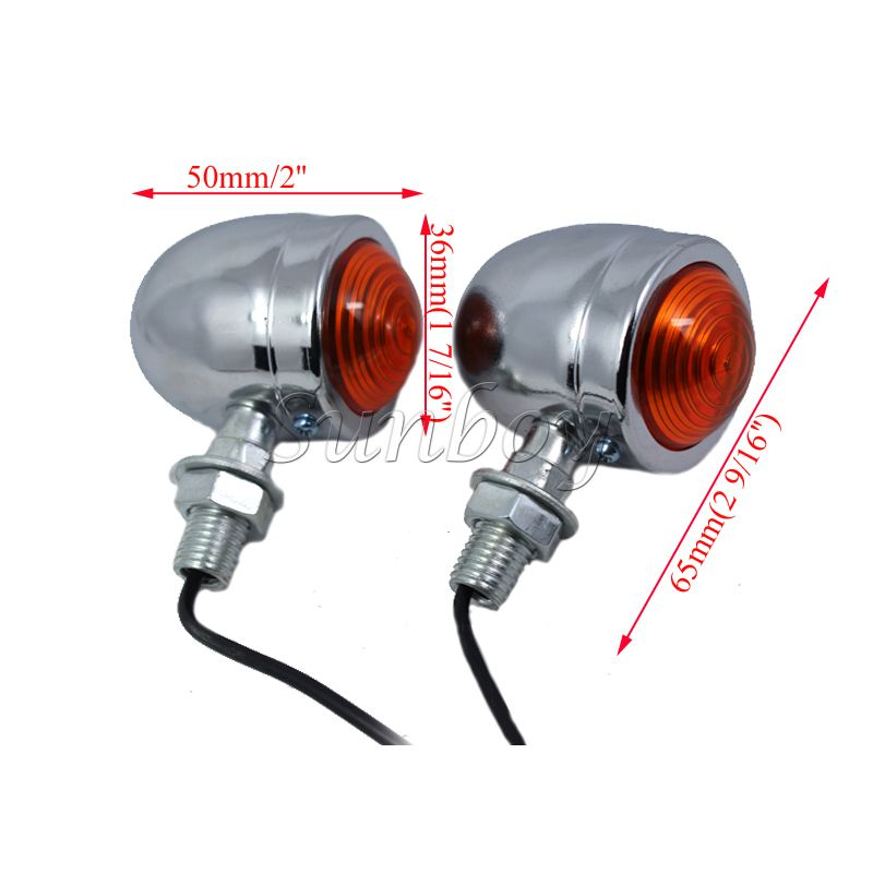 Universal Chrome Motorcycle Turn Signals Motorbike Blinkers Indicator Lights for Honda CBR 1000 1100XX 125R 250R 600 RR F4i