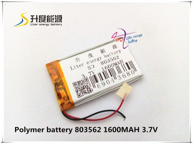 SD 3.7V watch phone battery 803562 1600mAh lithium polymer battery