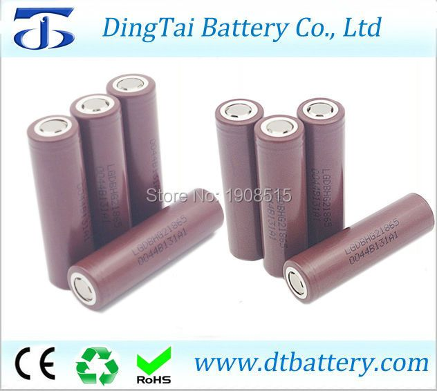 Hot selling genuine DBHG21865 3.6V 3000mAh for LG HG2 18650 rechargeable high power lithium ion battery 20A discharge current