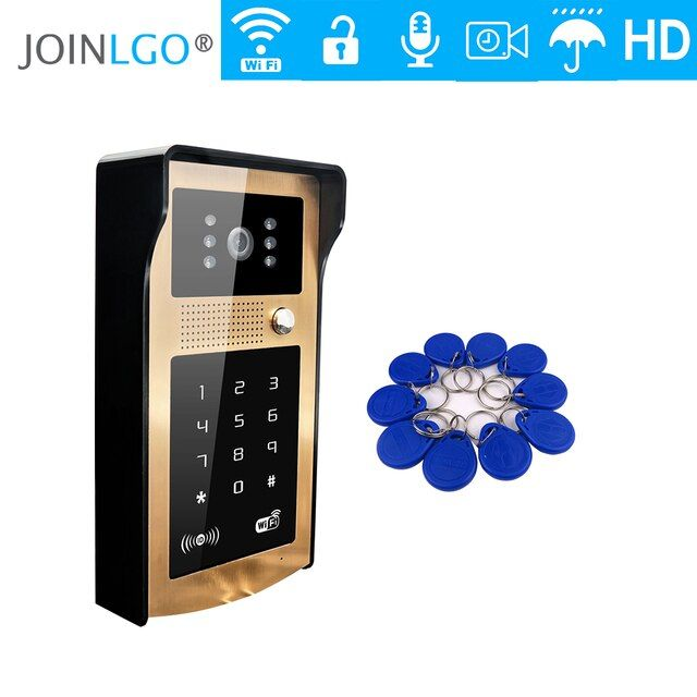 Free Shipping RFID Code Keypad Unlock Wireless Wifi Video Intercom Door Phone Metal Doorbell for Phone Remote Monitor / Unlock