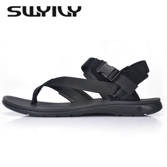 Soft Inner Flat Mens Sandals Rome Style 2017 New Summer Casual Shoes Comfortable Men Flip Flop Fashion Beach Sandals