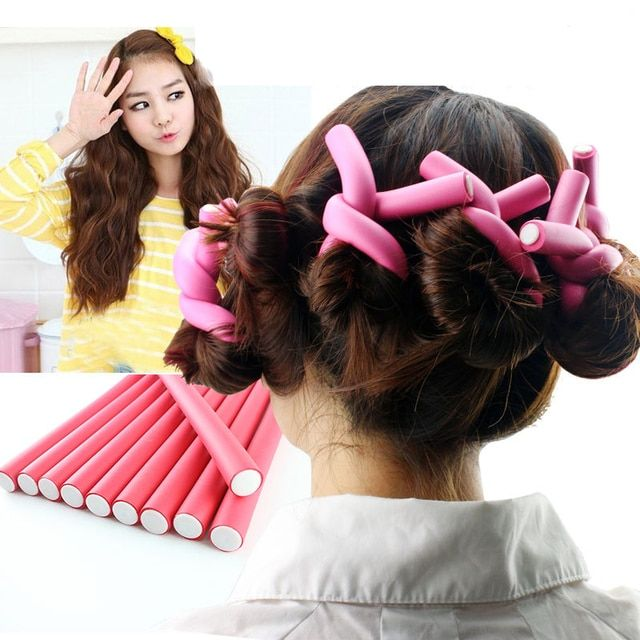 5Pcs Soft Foam Curler For Hair Bendy Twist Curler Makers Curling Hair Foam Rollers Women Hair Accessories Hair Styling Tools