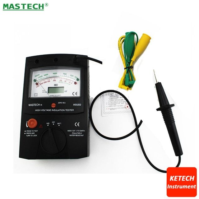 Digital Analog Insulation Tester MASTECH MS5202