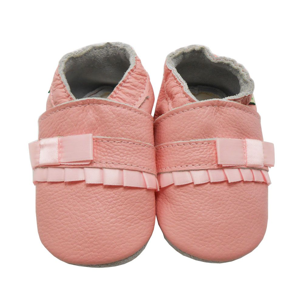 Sayoyo Fashion Baby Moccasins Cow Leather Lovely Pink Bowknot Baby Boy Shoes Girl Head Baby Shoes First Walkers Free Shipping
