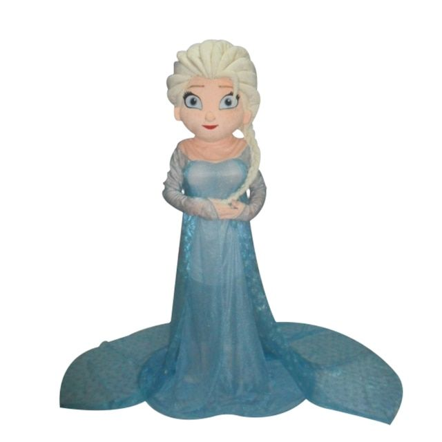 Hot Sale Elsa Mascot Costume Princess Elsa Costume Halloween Christmas In the winter mascot costumes