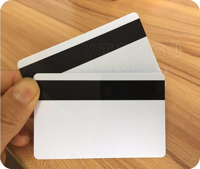 Free shopping by DHL 1000pcs PVC Blank White Plastic Cards 30Mil LoCo Magnetic card Mag Stripe printable for card printer CR80