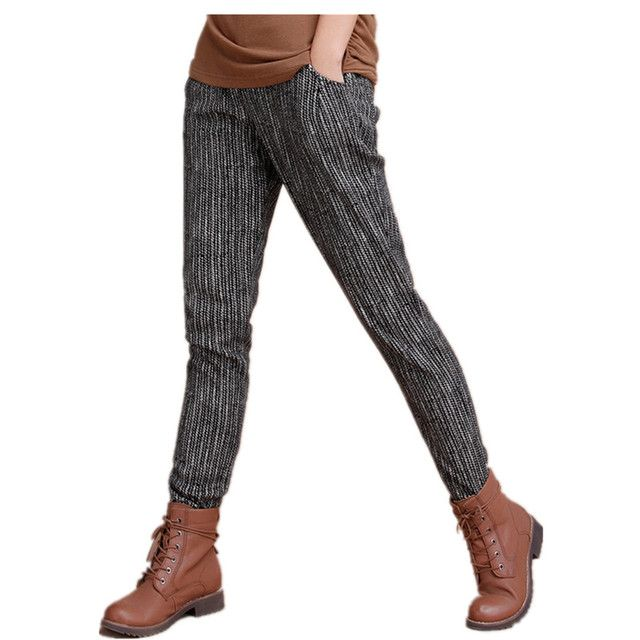 Autumn and Winter Fashion Loose Casual Pants With Thick Velvet Haren Pants for Women