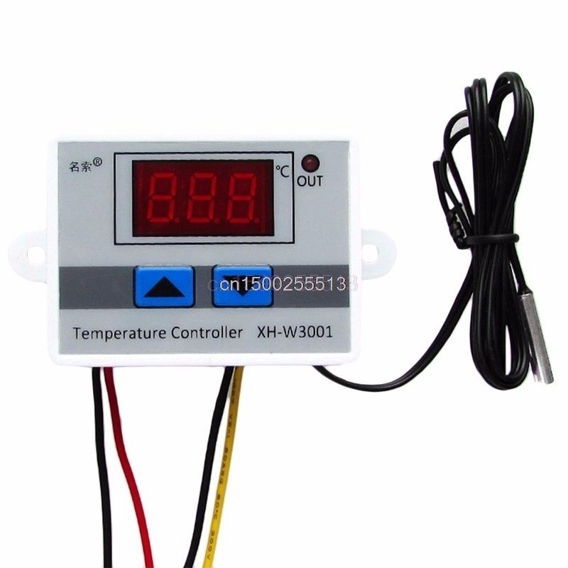 12V Digital LED Temperature Controller 10A Thermostat Control Switch Probe thermometer XH-W3001