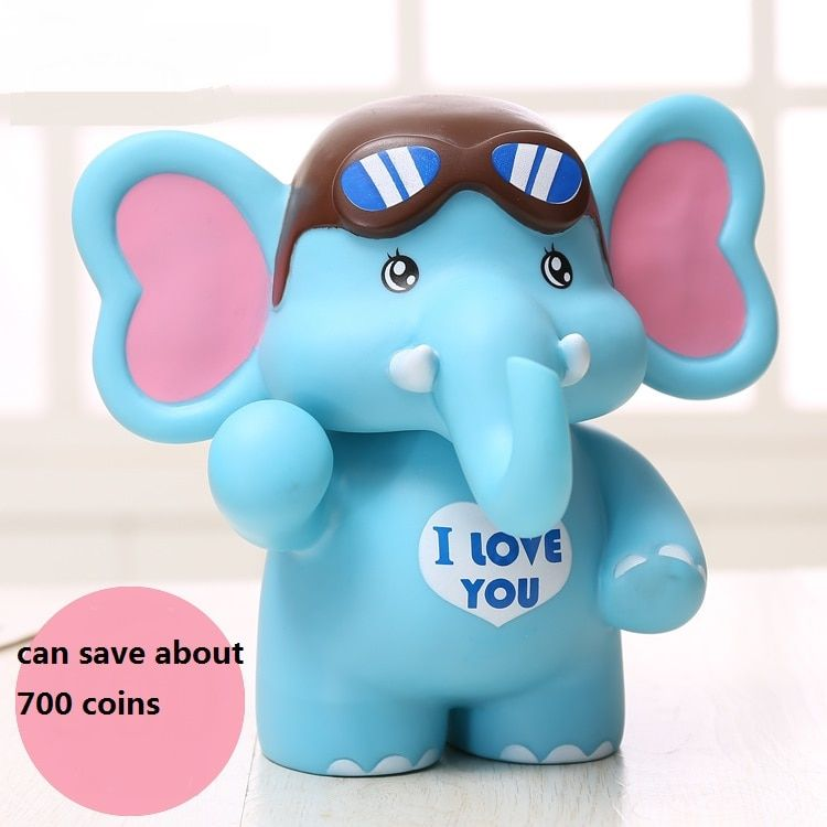 Cute Mascot Elephant Save Money Pot Creative Large Piggy Bank Children Money Money Box Holiday Children Toy Gift