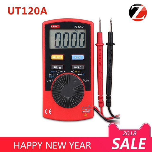 Lowest Price UNI-T UT120A Mini multimeter AC/DC frequency multimeter Ammeter Pocket Size Type Digital Multimeters