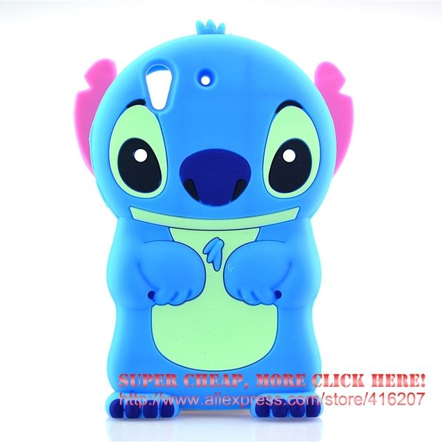 For Huawei Y6 2 / Huawei Y6 II Honor 5A Case 3D cute Cartoon Soft Rubber silicon Stitch Case Folding of the Ear