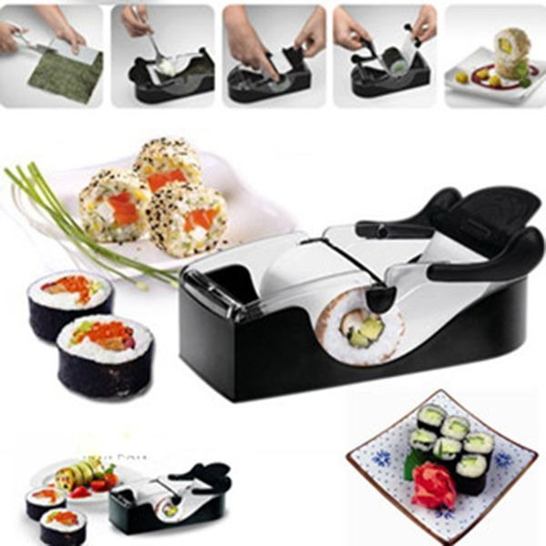 DIY Sushi Roller Cutter Machine Gadgets Kitchen Tool Perfect Magic Roll Maker