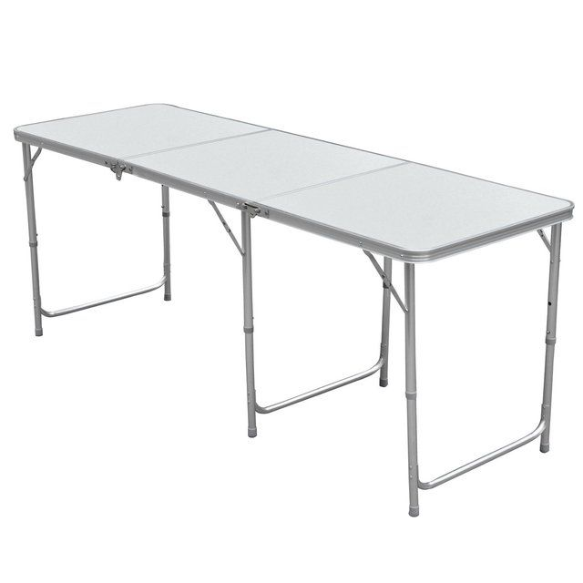 EWS!1.8m Adjustable Aluminum Folding Portable Camping / Party Table