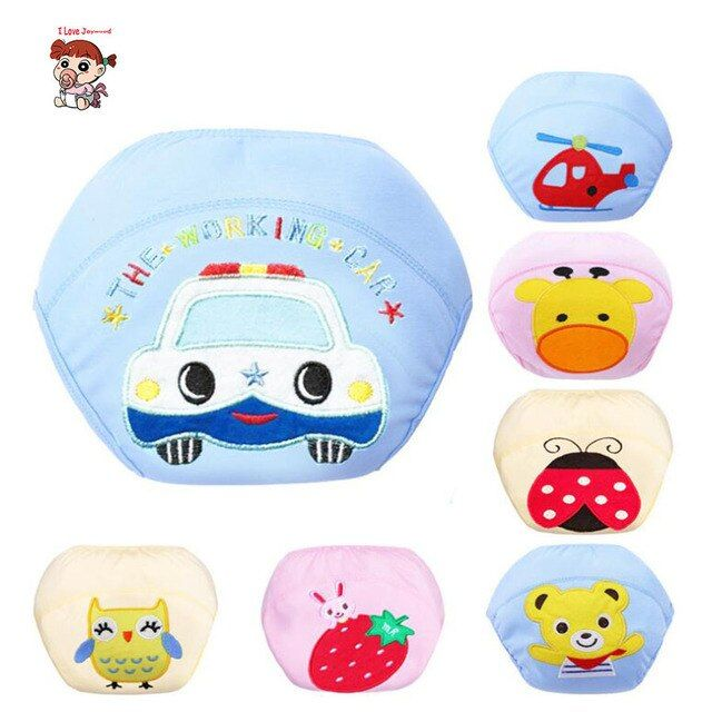 1Pcs So Cute Baby Cotton Training Pants  Learning Pants Washable  Infants Nappies  Reusable Diapers Reusable Nappies