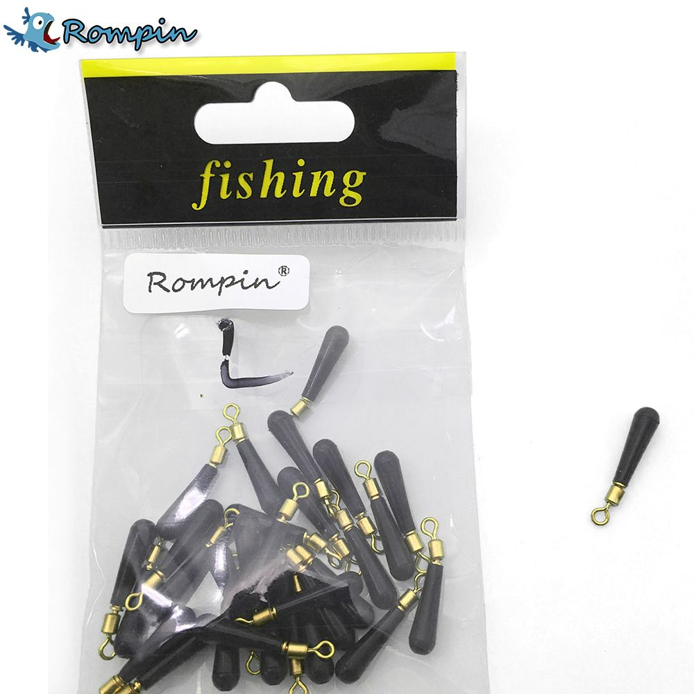 Rompin 30pcs/lot Fishing copper rubber float rest Gear Block rotation drift fishing floats accessory bobber