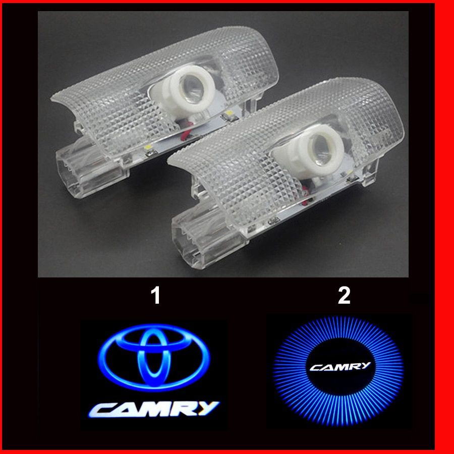HD brightness car 3D ghost shadow lamp auto 3d camry door logo light bulb welcome projector light for camry 2006-2016