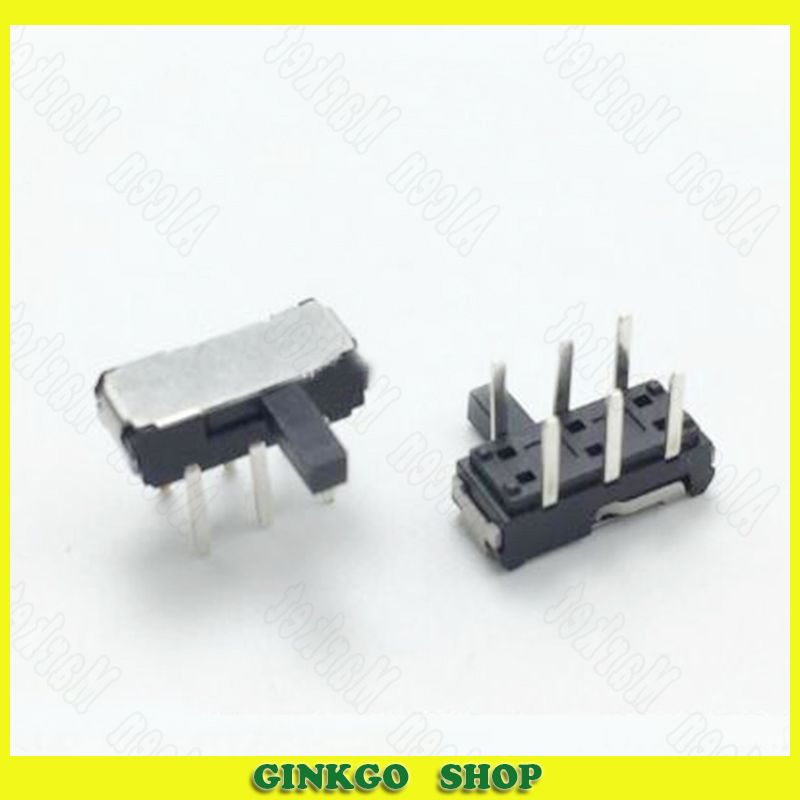 200pcs/lot Horizontal Pin 6 Pin Toggle Switches MSK-22D20G4 2 Position Handle Height 4.0 Miniature Slide Switch
