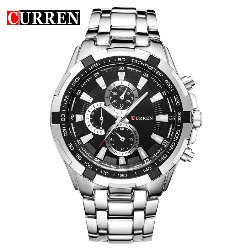 CURREN 8023 Men Watches Top Brand Luxury Men Military Wrist Watches Full Stainless Steel Sports Men Watch Relogio Military Wrist