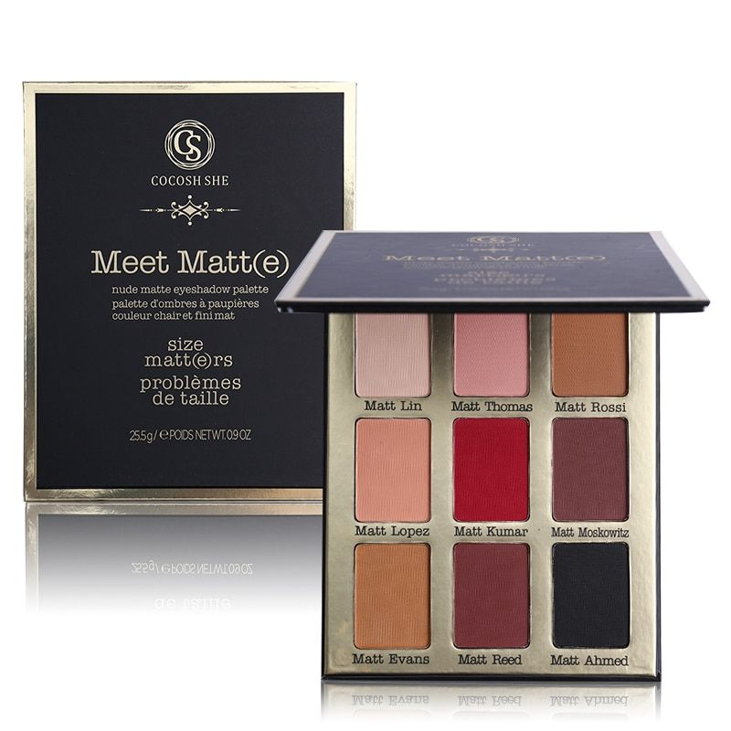 Professional 9 Color Meet Matt(e) Eye Shadow Palette Matte Eyeshadow Palette Make Up Cosmetics COCOSH SHE Brand Makeup Set