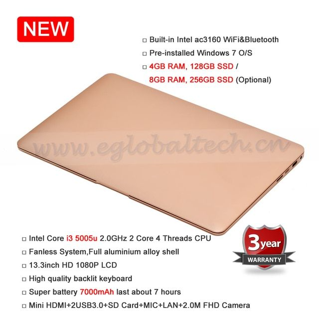 8GB RAM 256GB SSD Fanless 13.3inch Netbook 7000mAh Battery 2.0M FHD Camera Max 433M WiFi BT Better Than Mini HTPC or Laptop