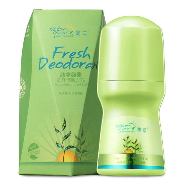 SOON PURE Aloe Vera Fresh Deodorant Antiperspirant Roll-on Sweat Deodorant Body Care For Men And Women Beauty Fragrance