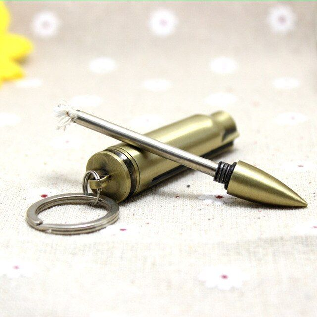 Camping Survival Emergency Fire Starter Flint Match Lighter With Key Chain Hot Sale