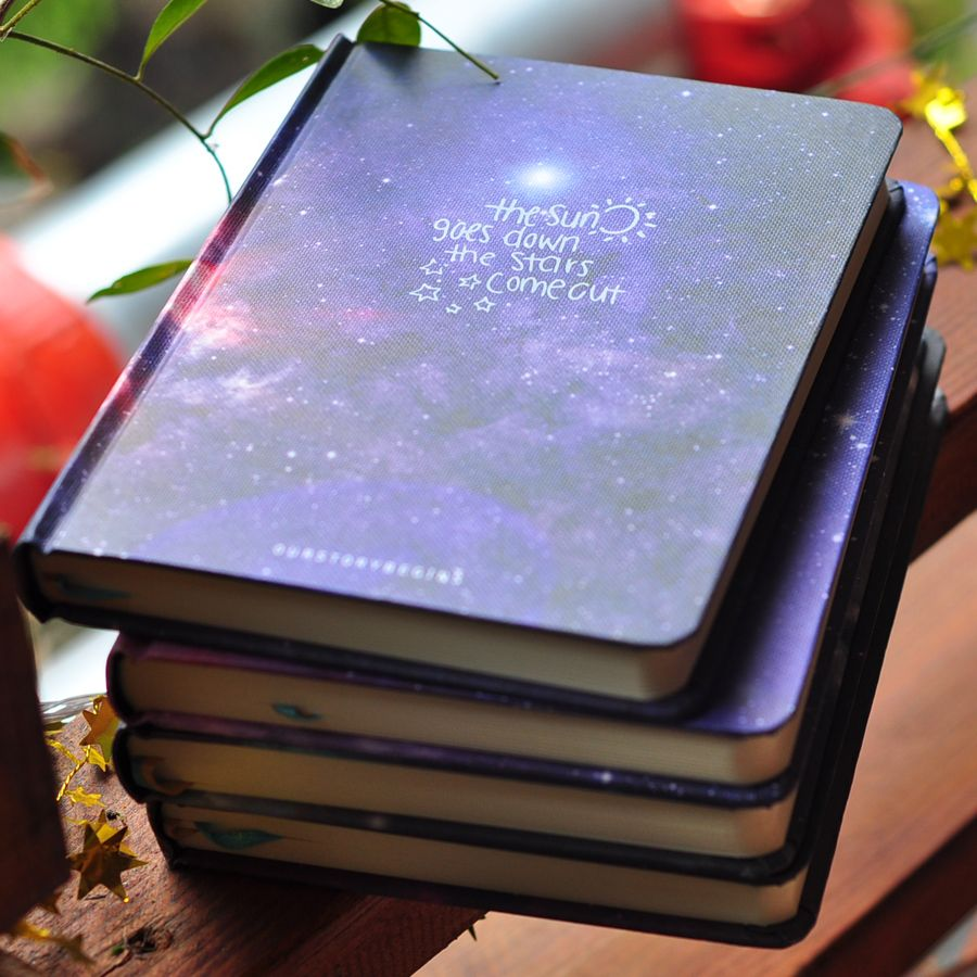 OUR STORY BEGINS Beautiful Stars Series Notebook A5 Horizontal Line Paper Notepad 1PCS