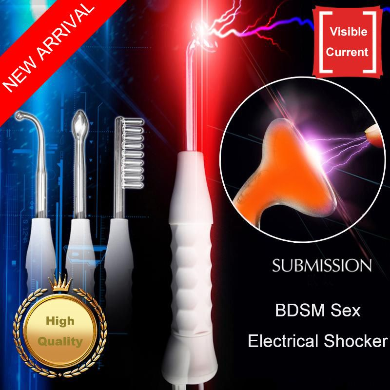 Adult Toys Electro Sex Submission Electro Shock Therapy Nipple Stimulation Twilight Wand Massager Erotic Sex Toys for Couples
