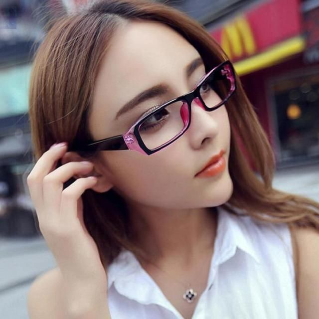 2017 Fashion Womens Uv400 Clear Lens Eye Glasses  Computer Radiation Protection  Eyeglasses Frame For Women Men