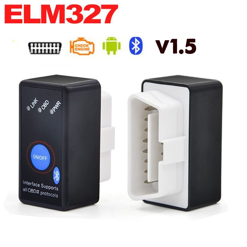 ELM327 Bluetooth V1.5 with Power Switch ODB2 ODBII OBD II ELM 327 Bluetooth Tester Car Auto Diagnostic Scan Tool Torque Android