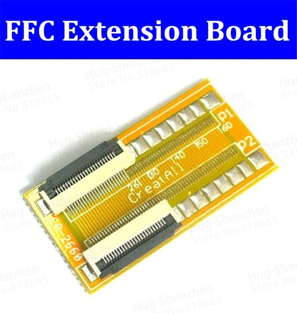 New 5pcs 0.5mm Spacing  FPC FFC Lcd Led 26 Pin to 26 pin FPC/FFC cable Increasing screen Extension cord connector board