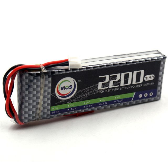 MOS 2S RC LiPo Battery 7.4v 2200mAh 25C LiPo Batteries 2S For RC Helicopter Car Boat Quadcopter Li-Polymer Batteria