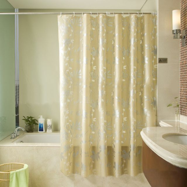 1Pc Simple Luxury Shower Curtain Waterproof Mildewproof Bathroom Curtains Home Decoration