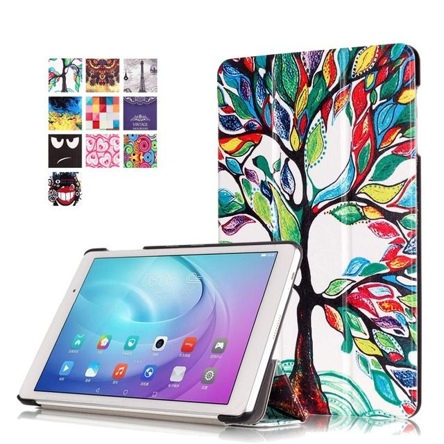 2017 New painted Stand PU Leather Case Flip Cover For Huawei MediaPad M2 Lite 10.1''FDR-A01W A03L T2 10.0 Pro case +Stylus+film