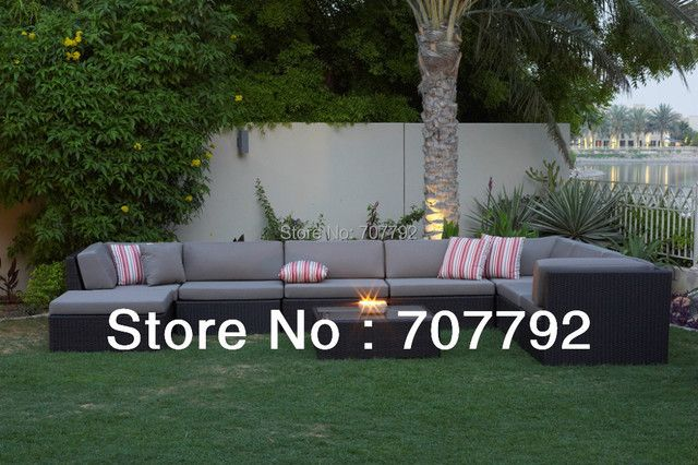 New Design rattan outdoor sectional sofa