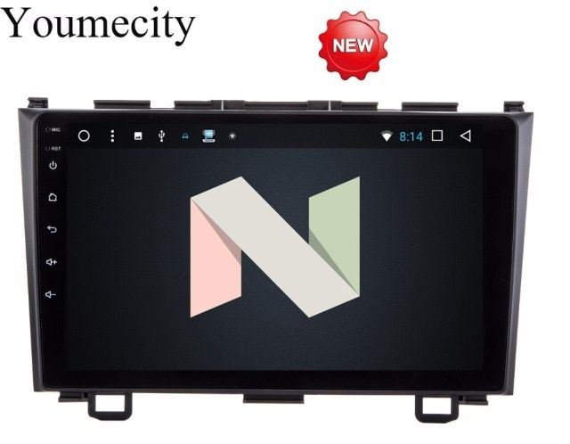 Youmecity NEW! Android 7.1 2 DIN 9 Octa Core Car dvd Video GPS Navi For Honda CRV 2006-2011 Capacitive screen 1024 *600 +wifi+BT