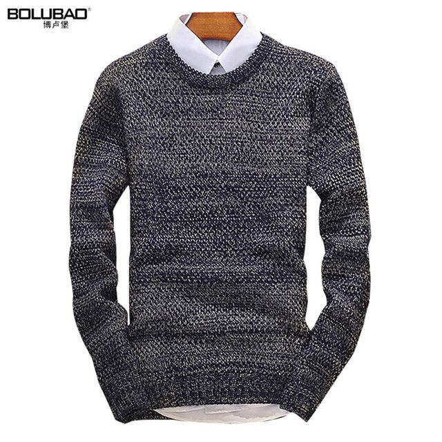 2016 Hot Sale Brand Clothing Autumn Mens Sweaters Fashion Long Sleeve Men Pullover Casual Solid Color Sweater Men