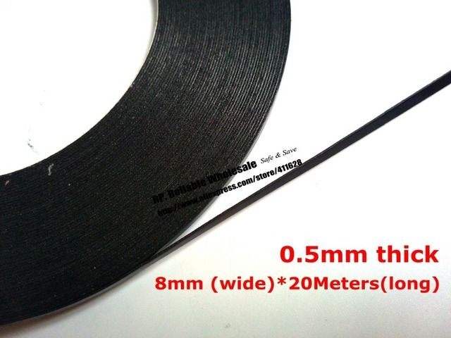(8mm wide) (0.5mm thick) Roll Adhesive Tape, Double Sided Glue Black Sponge Foam Tape for Phone Tablet Mini Pad Dust proof