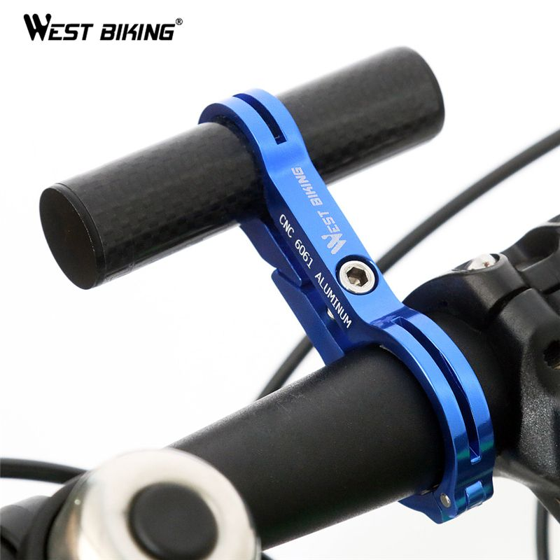 WEST BIKING Bike Cycling Handle Bar Extender Carbon Aluminum Bicycle Extensions Frame Bike Accessories Mount Lamp Bracket Holder