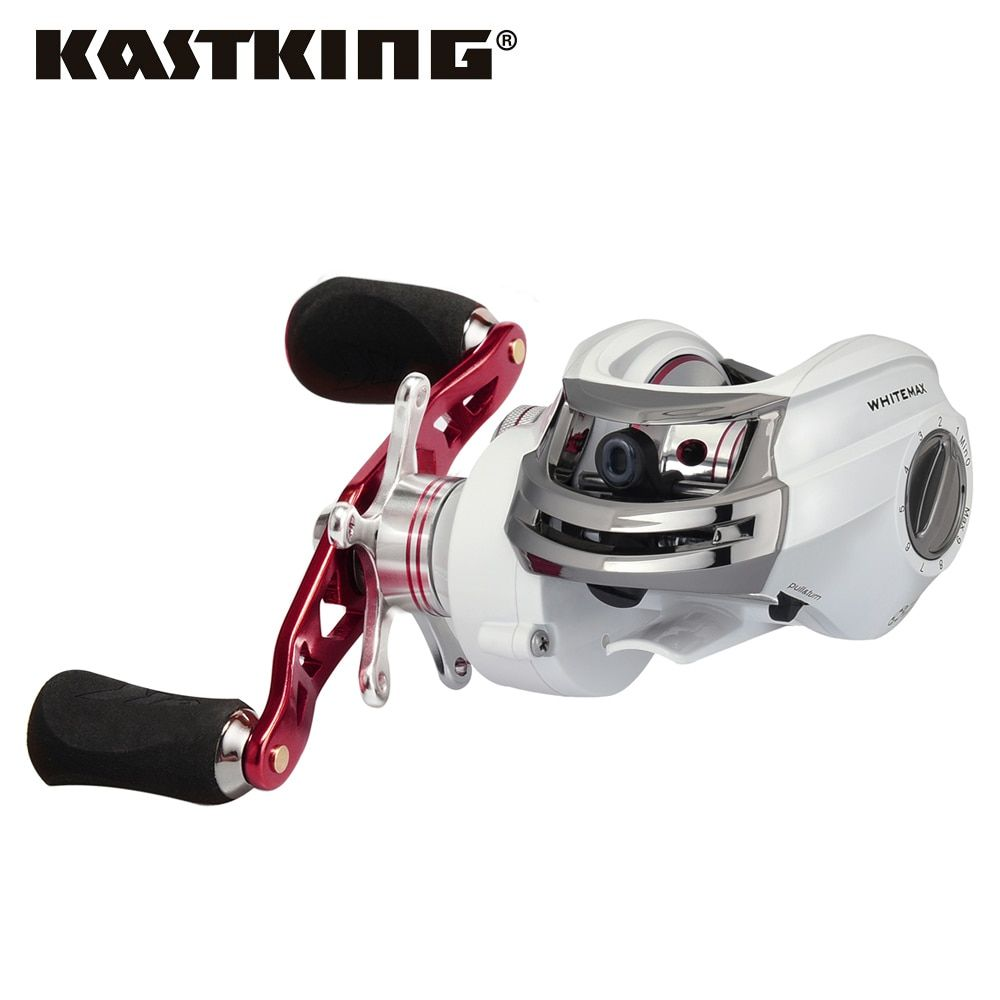KastKing Whitemax Baitcasting Fishing Reel 5.3:1 Baitcasting Reel Centrifugal & Magnetic Brake Carbon Max Drag 8KG/17.6LB