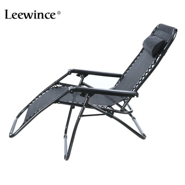 Leewince Folding Zero Gravity Reclining Lounge Portable Garden Beach Camping Outdoor Chair Sun Loungers