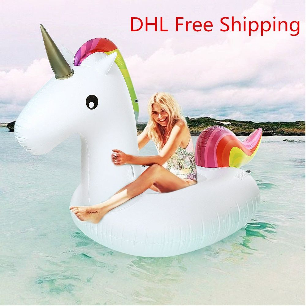 Inflatable Giant Unicorn Floating Rideable Air Mattresses Air Sofa Swimming Pool Toy Float Raft Beach Days Pool Party Raft