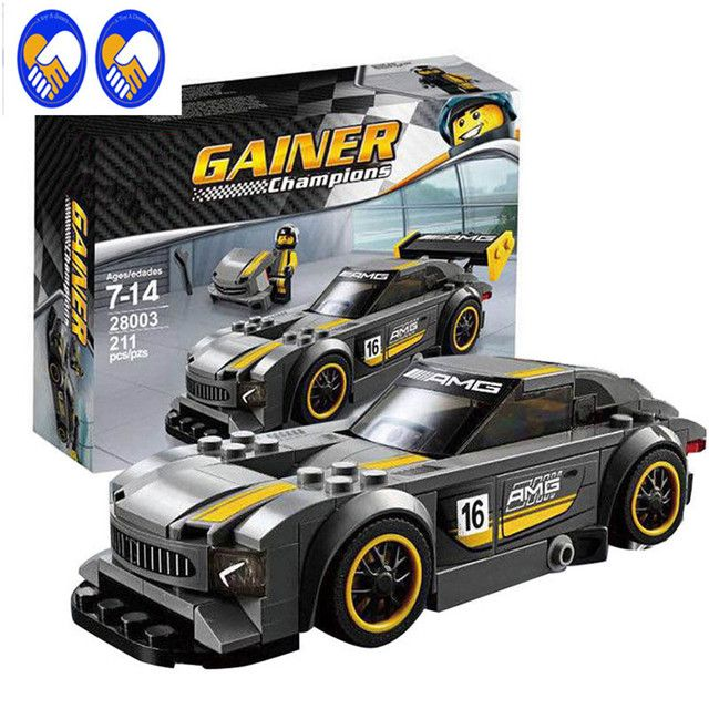 A Toy A Dream Lepin 28003 Super Racer Series The AMG GT3 Racing Car Set Children Educational Building Blocks Toys Gifts 75877
