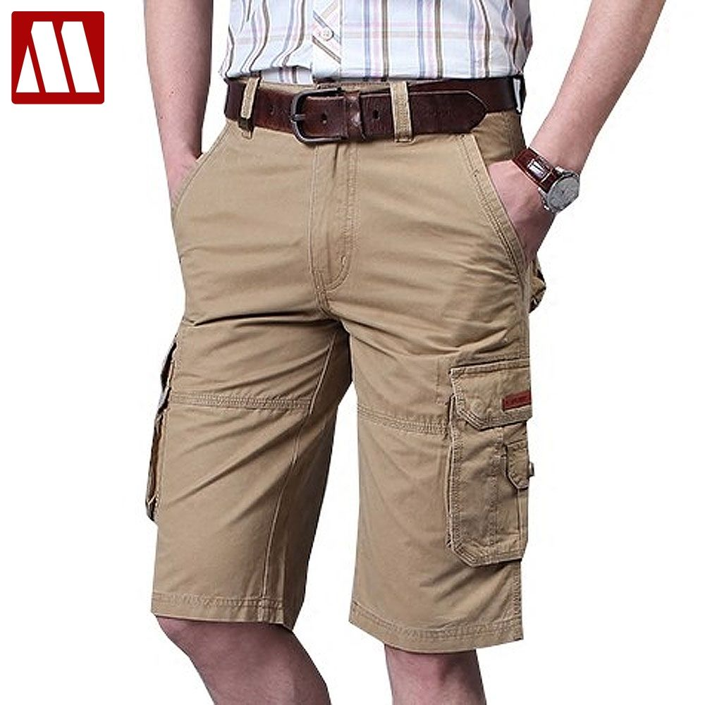 Plus size 38 40 42 44 mens overalls fashion pocket shorts for man bermuda loose casual cargo Shorts NEW summer cotton trousers