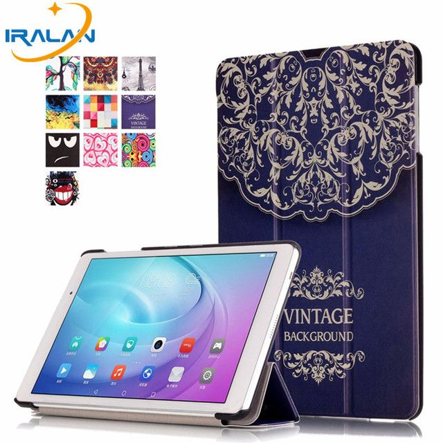 2018 New painted Stand PU Leather Case Flip Cover For Huawei MediaPad M2 Lite 10.1''FDR-A01W A03L T2 10.0 Pro case +Stylus+film