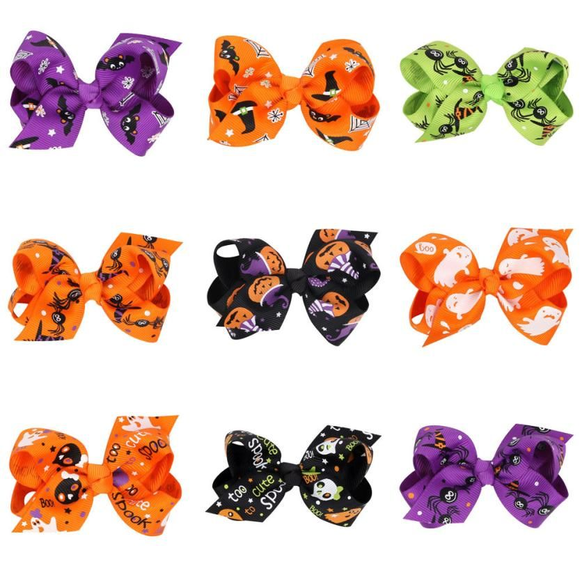 Accesorios Baby Girls Hair Clips Barrette Halloween Bowknot Hairpin Baby Hair Accessories Headdres Levert Dropship Jan16