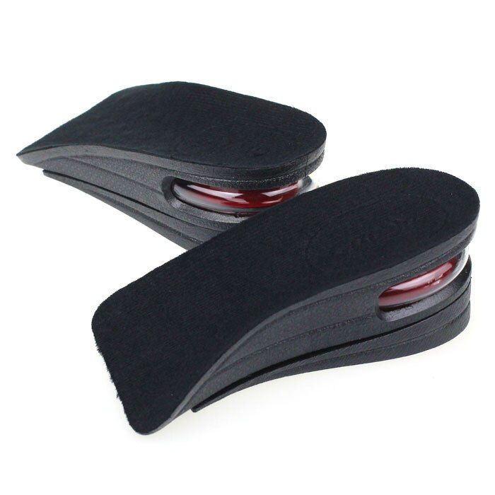 Hot Sale Height Increase Shoe Insole 2-Layer Air Cushion Heel Increase 5cm Taller 1 pair Man Women Invisible Pads Soles Insoles